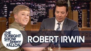 Download Jimmy Loses It with Robert Irwin on a Hot Mic Before Animals Segment Video