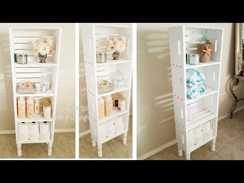 INEXPENSIVE STORAGE UNIT | DIY ORGANIZER 2018 | PINTEREST INSPIRED 2018