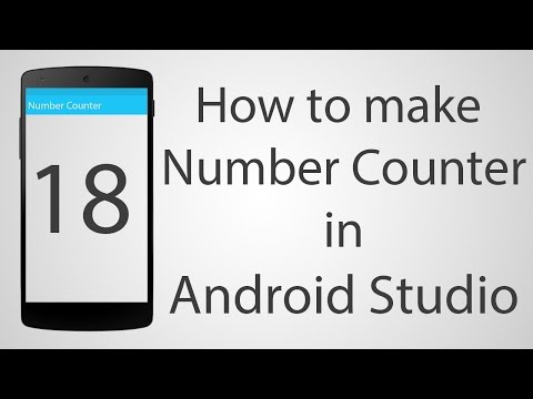 How to Make a Full screen Counter App in Android Studio