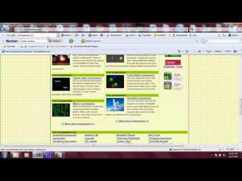 Free Screensavers! Matrix screensaver