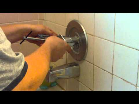 How to Remove a Stuck Shower  Faucet Handle