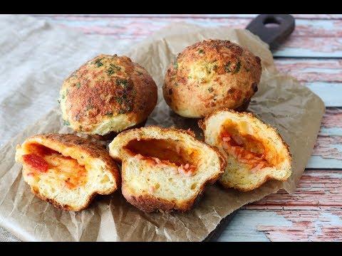 Soft Garlic Bread Pizza Muffins - Lunch Box Idea - By One Kitchen