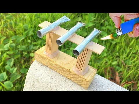 How To Make A Mini Cannon!!