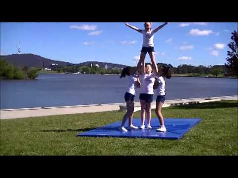 Cheer Chick Charlie - Video 18 - Level 1 Stunts using Teddy Bear sit