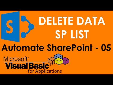 S01E08-Delete data from SharePoint Server using VBA ADO Command