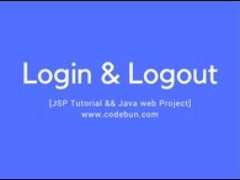 java web project  using JSP, MYSQL and Servlet(login and logout)