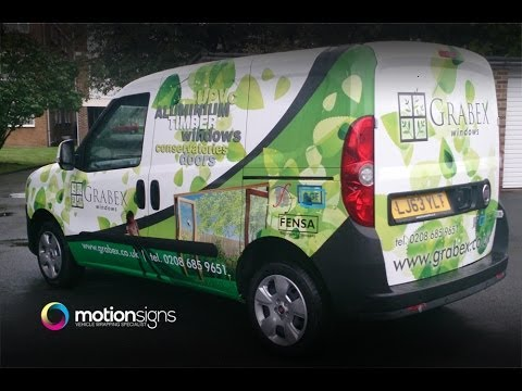Fiat Doblo, Commercial Vinyl Wrapping. Wrap by Motion Signs for Grabex Windows