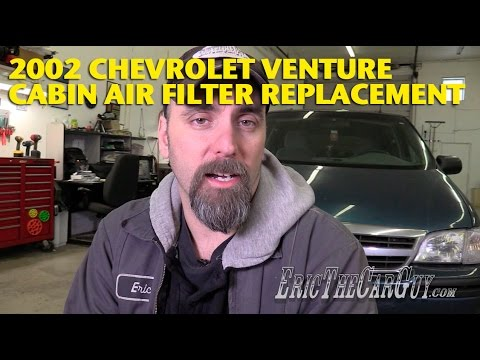2001-2005 Chevrolet Venture Cabin Air Filter Replacement -EricTheCarGuy