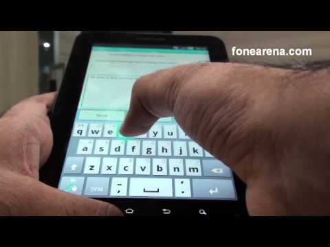 SWYPE on Samsung Galaxy Tab