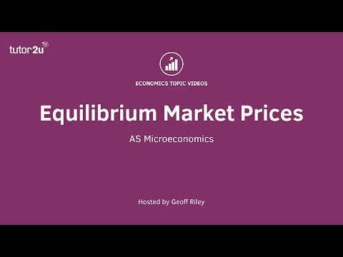 Equilibrium Prices in Markets
