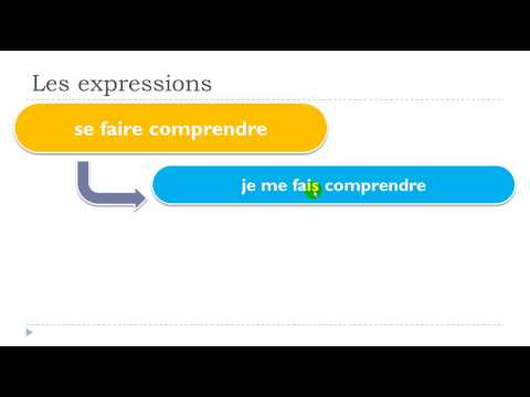 Learn 1 French expression # se faire comprendre
