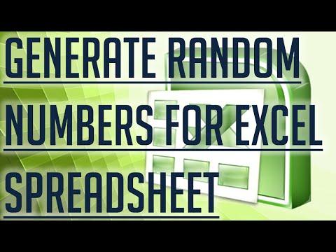 [Free Excel Tutorial] GENERATE RANDOM NUMBERS FOR EXCEL SPREADSHEET - Full HD