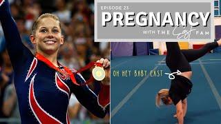 olympic gymnast tries pregnant gymnastics | the east family