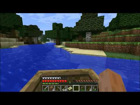 Minecraft tutorial- how to make a boat and drive it, how to make a compass and a map in  mincraft