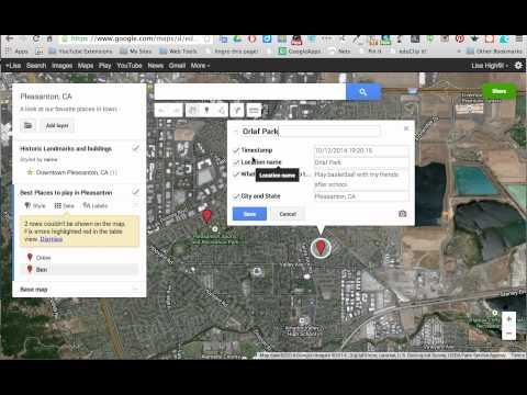 My Maps- Adding a layer to Google Maps by importing data