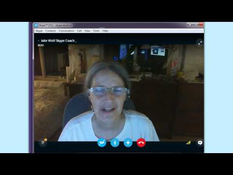 Skype call menus:  fullscreen, screenshare etc
