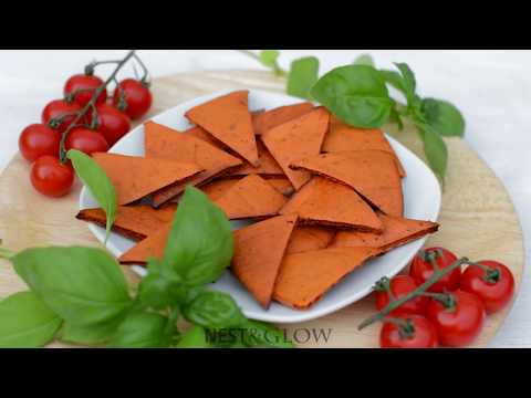 Tomato and Basil Lentil Chips Recipe - Oil and Gluten free