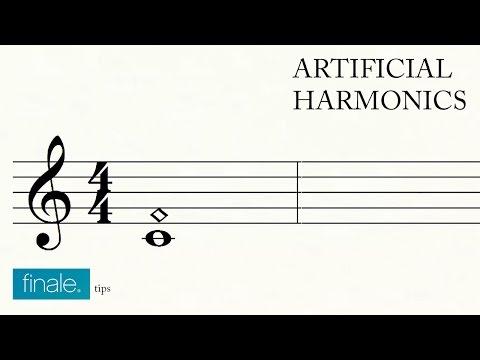 Artifical harmonics in Makemusic Finale
