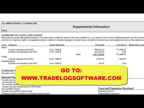 TradeLog: Reconcile 1099-B
