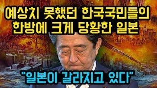 예상치 못했던 한국 국민들의 한방에 크게 당황한 일본,