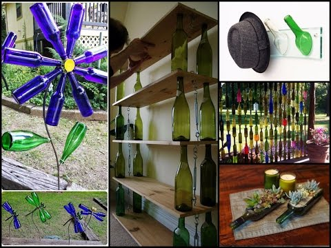 DIY Recycled Wine Bottles Ideas - Wine Bottle Crafts Inspo