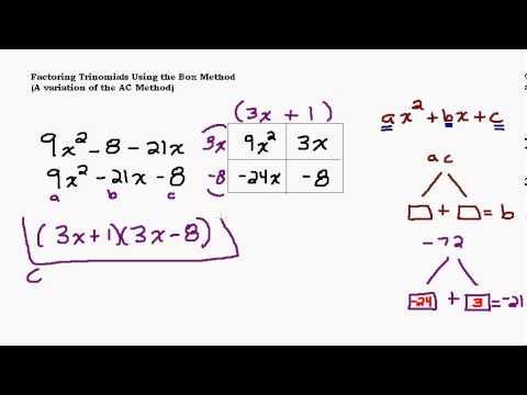 Factoring Tough Trinomials Using the Box Method
