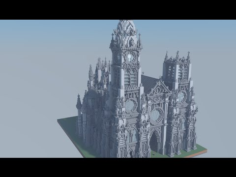 Minecraft Cathedral Timelapse