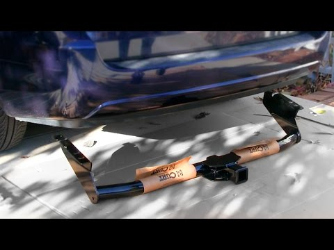 How to install a Trailer Tow Hitch Receiver Bar - CURT 13105 Class 3 Toyota Sienna