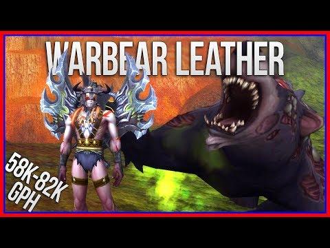 58k-82k | Warbear Leather Farming & Cool AFK Macro