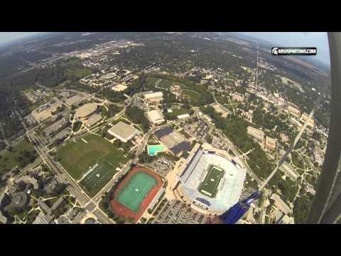 Misty Blues Skydiving Team skydives into Spartan Stadium