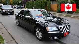 *EXCLUSIVE* William & Kate's + Justin Trudeau's [Royal Motorcade] in Vancouver Canada 2016