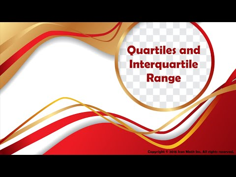Quartiles and Interquartile Range