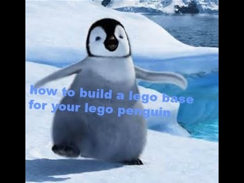 how to build a lego base for your lego penguin