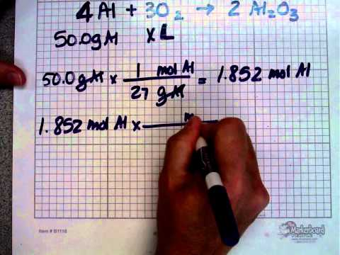 Chemistry - stoichiometry - mass volume problems