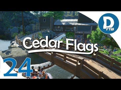 Let's Design Cedar Flags Ep. 24 - Detailing Alpine River Rush's Queue Area - Planet Coaster