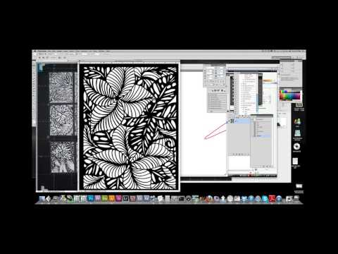 Creating laser cutting files with live trace