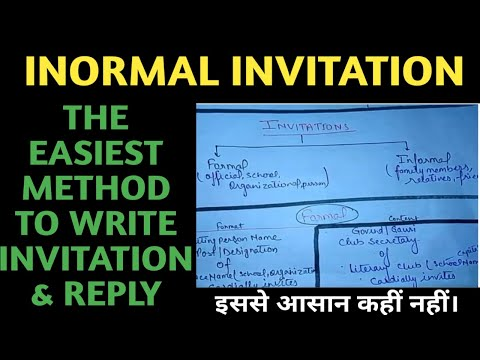 How To Write An Informal Invitation Easily....