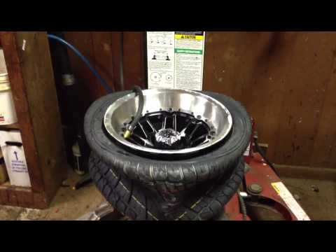 How to mount a duro golf cart tire
