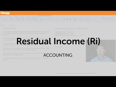 Residual Income (RI) | Accounting | Chegg Tutors