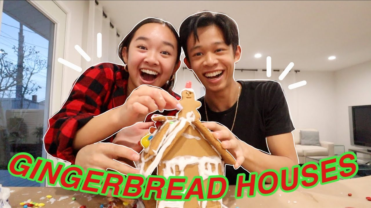 GINGERBREAD HOUSES WITH CHRISTIAN! Vlogmas Day 13 | Nicole Laeno