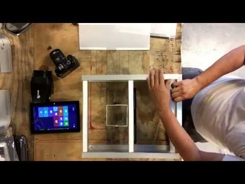 How to make diy photo booth kiosk from aluminum channel and tube