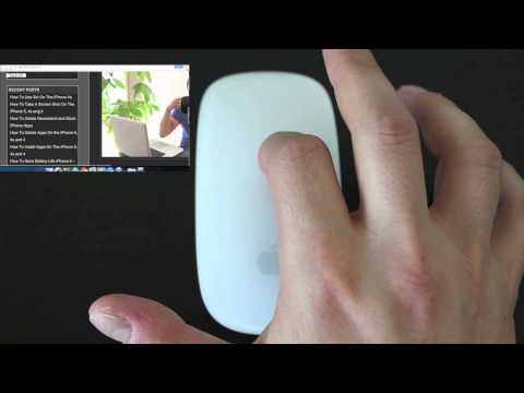 How To Use Apple Magic Mouse Gestures and Multi Touch