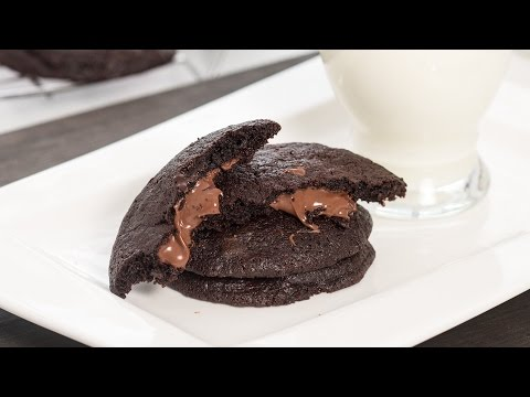 Nutella Stuffed Chocolate Cookies Recipe