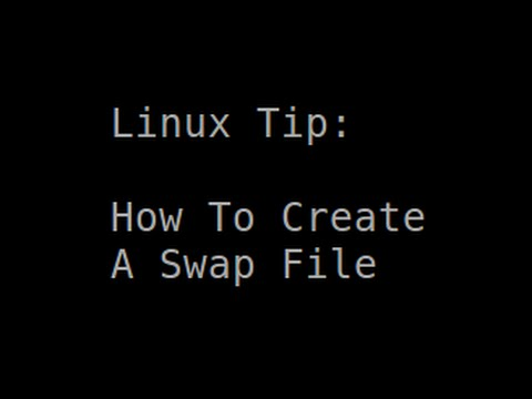 Linux Tip | How To Create A Swap File