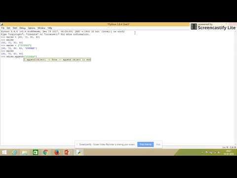 Python Programming Tutorial    Class 6 Lists