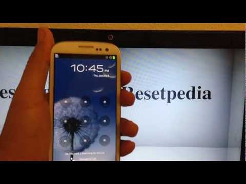 Hard Reset Password Removal Factory Restory Verizon Samsung Galaxy S3 Tutorial