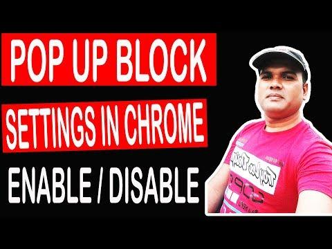 POP Up Blocker enable/disable google chrome