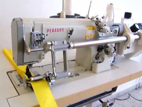 Nähmaschine mit Faltenleger / sewing machine with folding device for ribbon tape