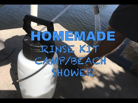 Homemade Rinse Kit / Camping Shower with SURPRISE ENDING!