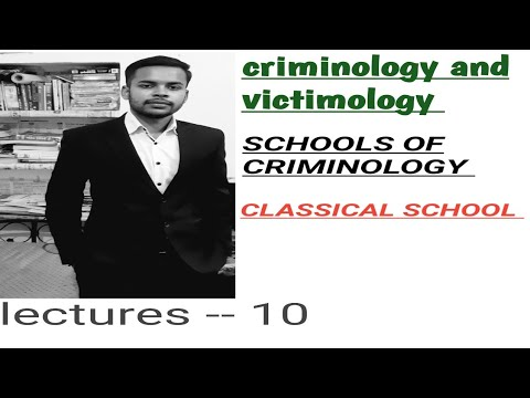 criminology and victimology class in hindi ( classical schools) !!penology classes in hindi !!